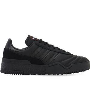 Кожаные кроссовки черные на шнуровке Adidas Originals By Alexander Wang