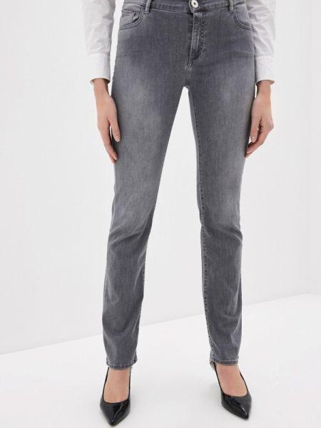 Джинсы-скинни mom серые Trussardi Jeans