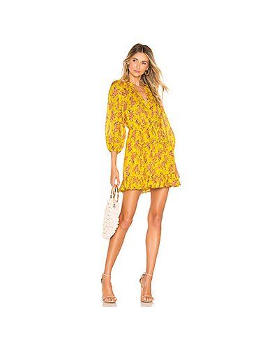 Платье с поясом в полоску с цветочным принтом Ulla Johnson