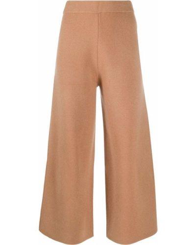 Шерстяные коричневые укороченные брюки Joseph