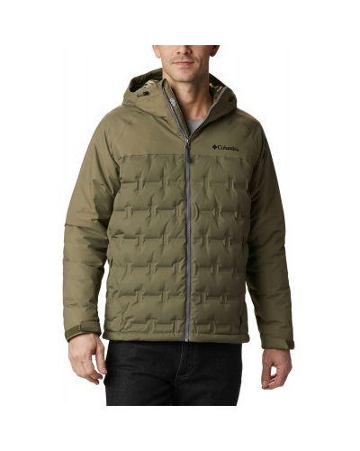 Зеленая пуховая куртка мембранная Columbia