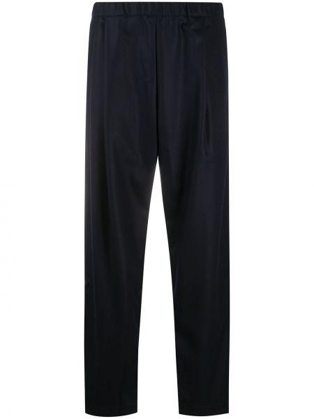 Брючные вязаные синие укороченные брюки с высокой посадкой Casey Casey