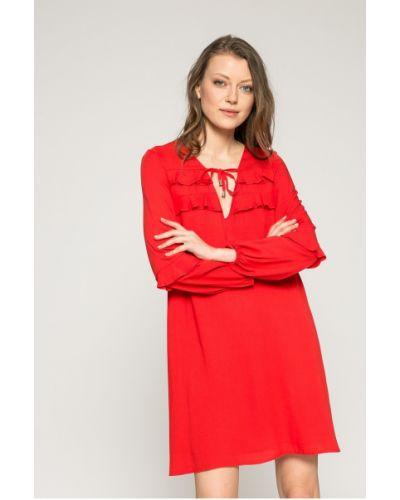 Платье мини с V-образным вырезом прямое Answear