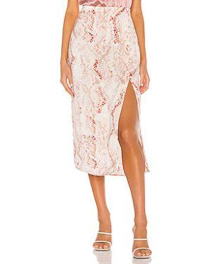 Кашемировая юбка миди в рубчик на молнии с подкладкой Cupcakes And Cashmere