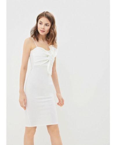 Белое вечернее вечернее платье с опушкой Edge Street