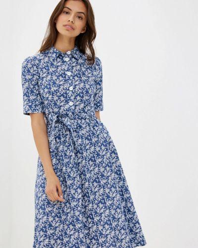 Платье прямое синее Maison De La Robe