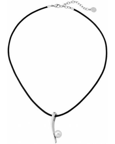Серебряное ожерелье с жемчугом с подвесками Majorica