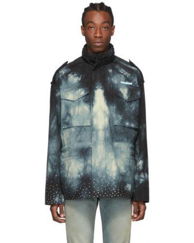 Czarny długa kurtka z mankietami z długimi rękawami z kieszeniami Off-white
