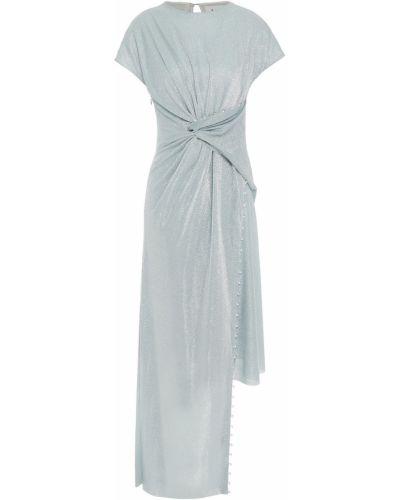Платье с люрексом - синее Lanvin