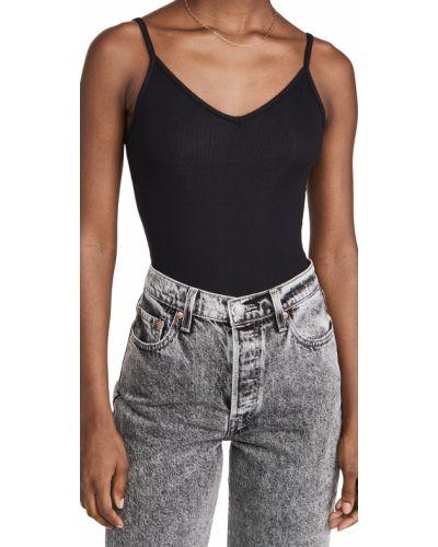 Body bawełniany - czarny Agolde