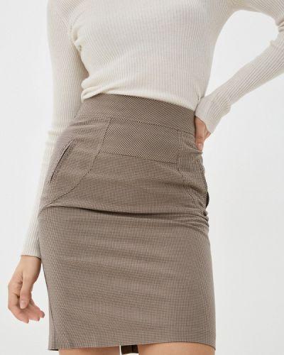 Бежевая прямая юбка карандаш Shovsvaro
