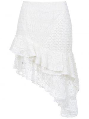 Ажурная асимметричная юбка с оборками из вискозы Martha Medeiros
