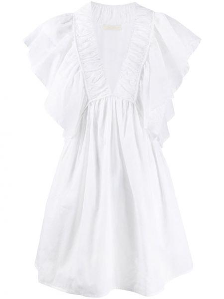 Платье мини с декольте со складками Mes Demoiselles