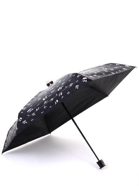 Нейлоновый черный складной зонт Karl Lagerfeld