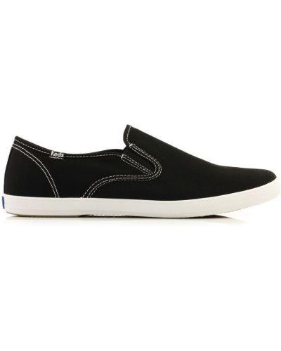 Слипоны черные на каблуке Keds