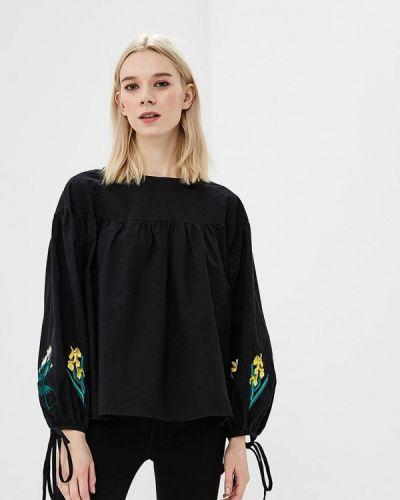 Блузка черная весенний Zeza