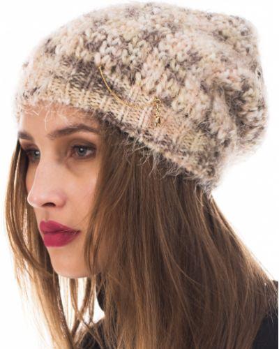 Акриловая шапка - бежевая Patrizia Pepe