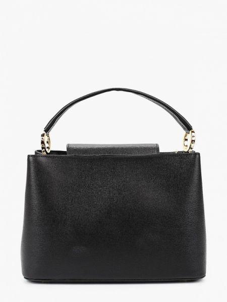 Кожаная сумка с ручками черная Lamania