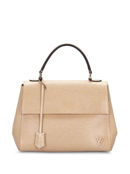 Кожаная сумка круглая коричневый Louis Vuitton