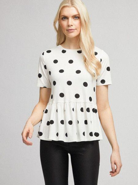 Блузка с коротким рукавом белая весенний Dorothy Perkins