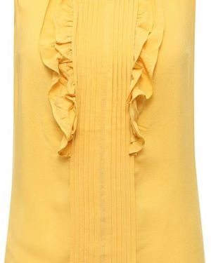 Желтая блузка из вискозы Finn Flare