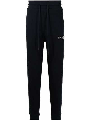 Spodnie z wysokim stanem - niebieskie True Religion