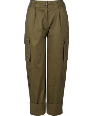 Брюки зеленый с накладными карманами Pepe Jeans