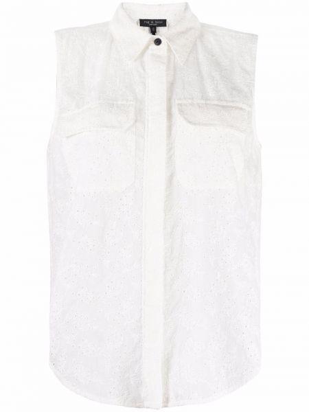 Biała koszula bez rękawów - biała Rag & Bone
