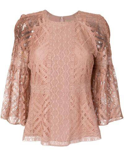 Блузка кружевная с расклешенными рукавами Burberry