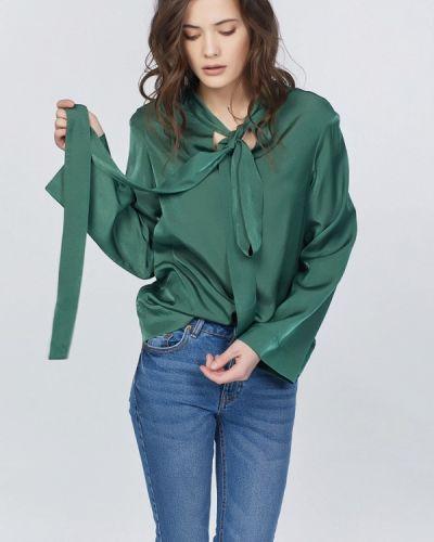 Зеленая блузка с бантом Fly