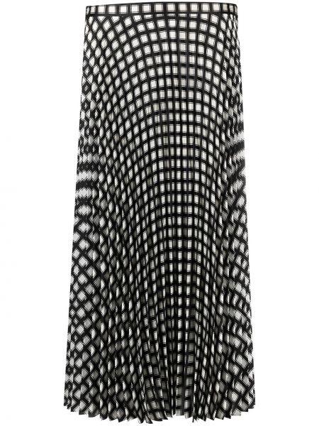 Черная с завышенной талией плиссированная юбка миди Theory