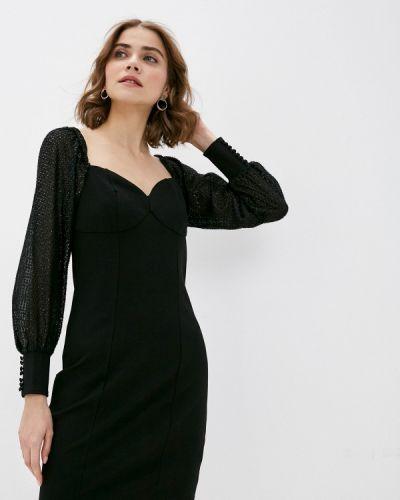 Черное платье с открытыми плечами Pimkie