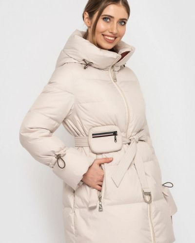 Утепленная куртка - бежевая Clasna
