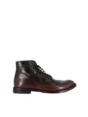 Ażurowe ankle boots sznurowane Officine Creative