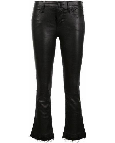 Укороченные брюки расклешенные черные Rta
