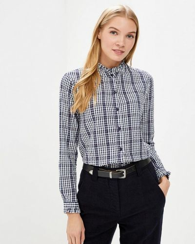 Блузка с длинным рукавом синяя Blendshe