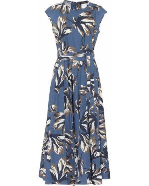 Платье миди с цветочным принтом из поплина 's Max Mara