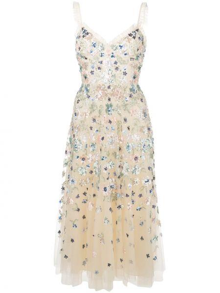 Платье миди с пайетками на бретелях Needle & Thread
