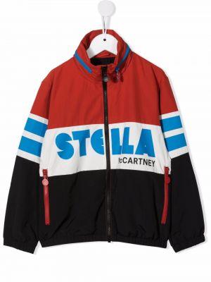 Czarna kurtka z printem Stella Mccartney Kids