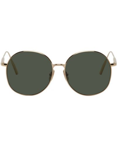 Zielone złote okulary Byredo