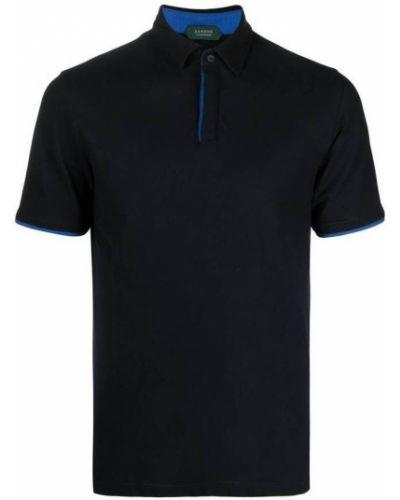 Niebieska koszulka Zanone