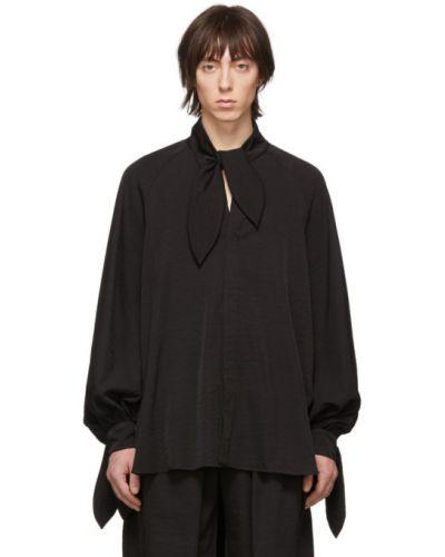 Czarna koszula z długimi rękawami Palomo Spain