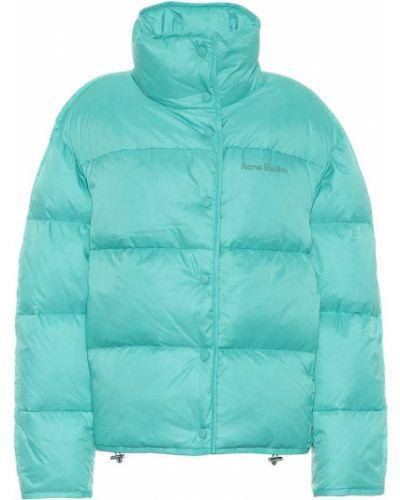 Pikowana puchaty niebieski pikowana kurtka Acne Studios