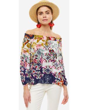 Блузка с открытыми плечами из вискозы Desigual