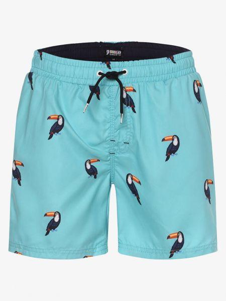 Ciepłe niebieskie krótkie szorty na basen Happy Shorts