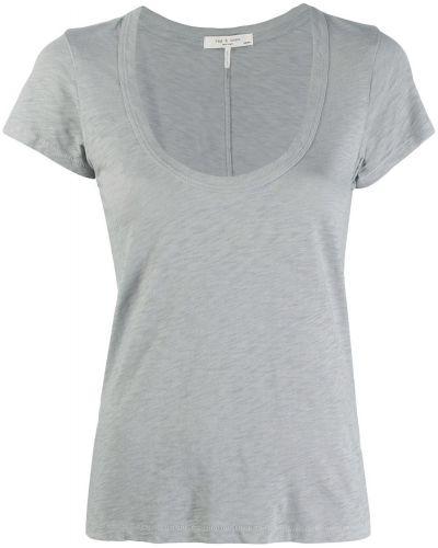 Рубашка с коротким рукавом стрейч синяя Rag & Bone