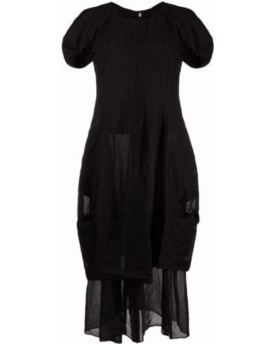 Прямое черное платье миди круглое Comme Des Garçons Comme Des Garçons