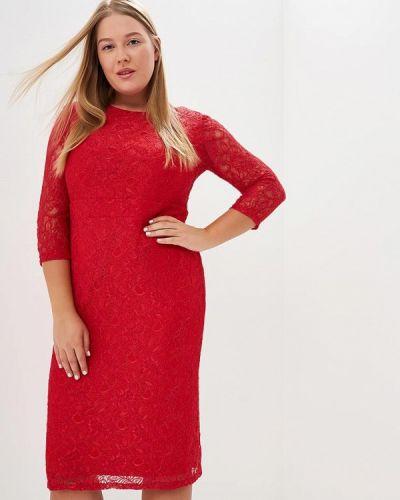 Коктейльное платье красный осеннее Svesta