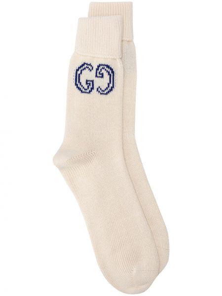 Bawełna trykotowy bawełna biały skarpety Gucci