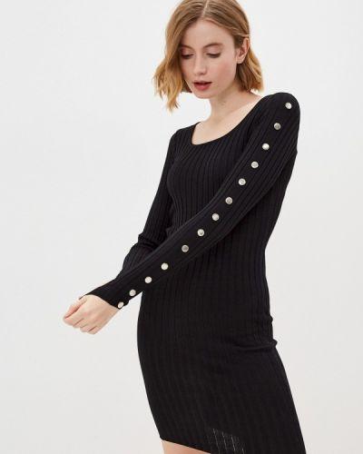 Трикотажное черное платье Moki